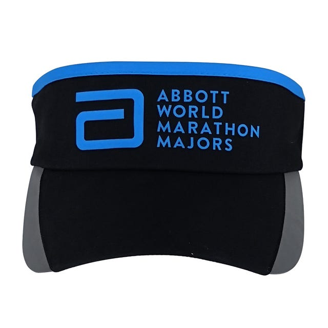 Abbott World Marathon Majors Elastic Back Visor